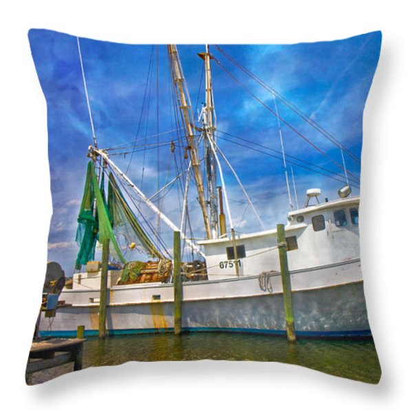 The Harbor II Throw Pillow by Betsy A  Cutler