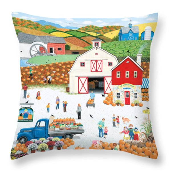 The Harvest Moon Throw Pillow by Wilfrido Limvalencia