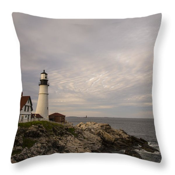 The Head Light Throw Pillow by Karol Livote