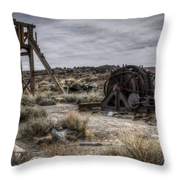 The Headframe Throw Pillow by Eduard Moldoveanu