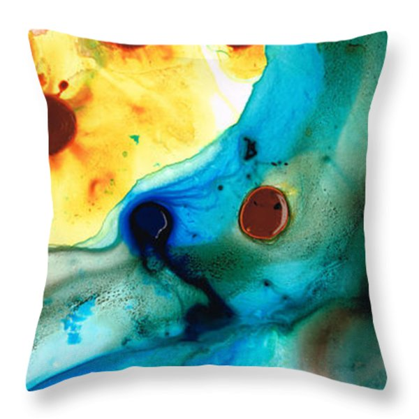 The Heart's Desire - Colorful Abstract By Sharon Cummings Throw Pillow by Sharon Cummings