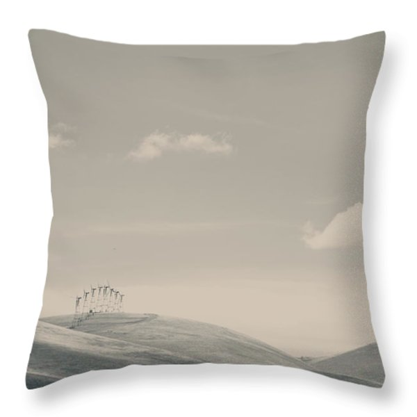 The Hills Throw Pillow by Laurie Search