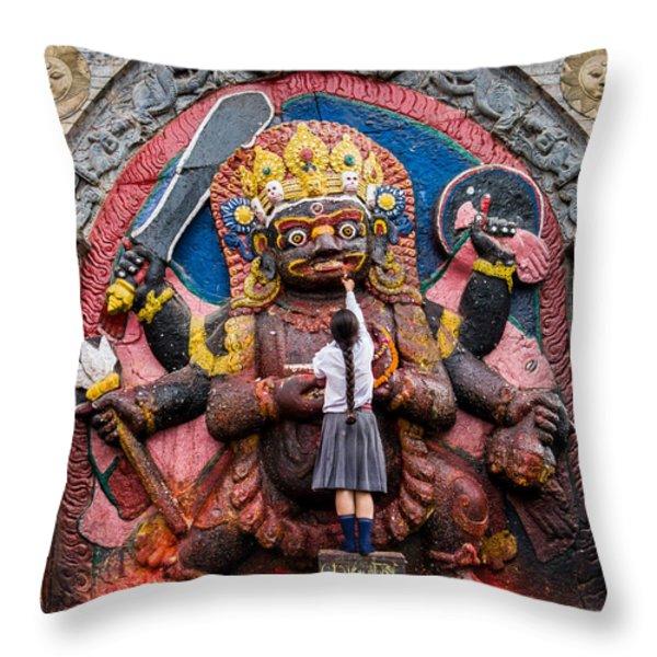 The Hindu God Shiva Throw Pillow by Nila Newsom