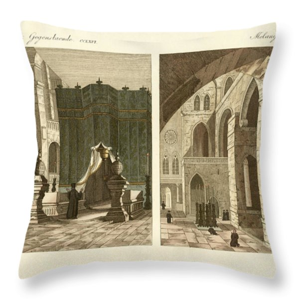 The Holy Sepulcher Of Jerusalem Throw Pillow by Splendid Art Prints