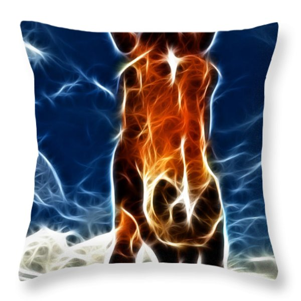 The Horse Throw Pillow by Paul Ward