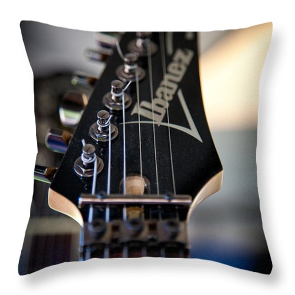 The Ibanez Guitar Throw Pillow by David Patterson