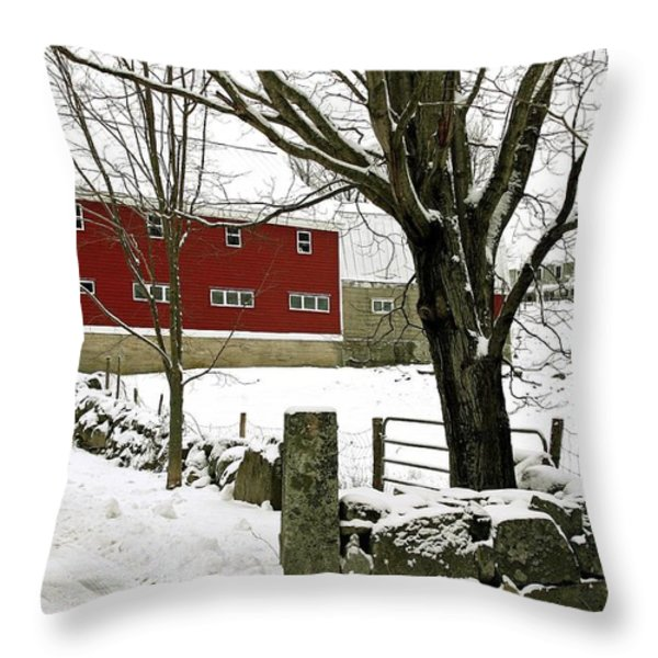 The Inn Throw Pillow by Laura Mace Rand