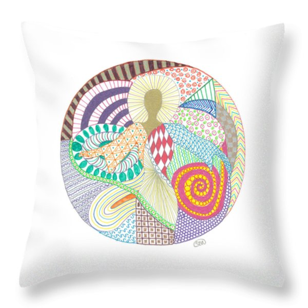 The Inner Goddess Throw Pillow by Signe  Beatrice