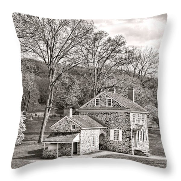 The Isaac Potts House Throw Pillow by Olivier Le Queinec