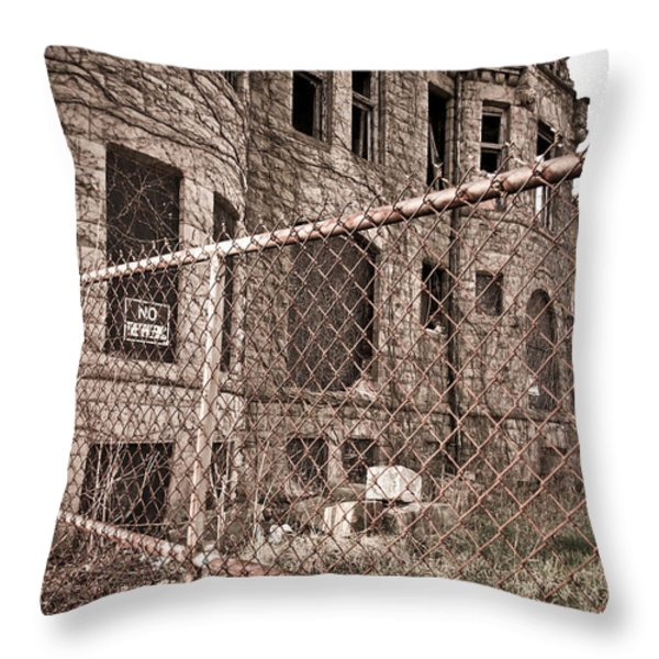 The James Scott Mansion Throw Pillow by Priya Ghose