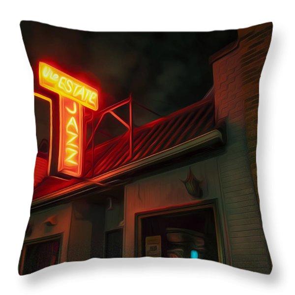 The Jazz Estate Throw Pillow by Scott Norris