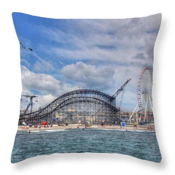 The Jersey Shore Throw Pillow by Lori Deiter