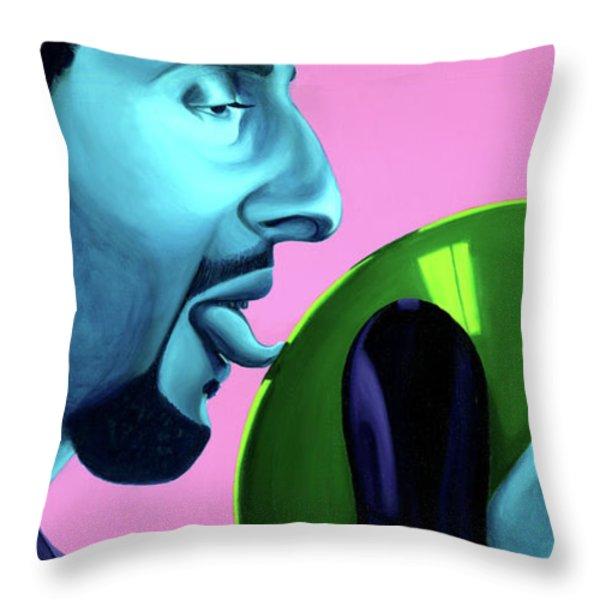 The Jesus Throw Pillow by Ellen Patton