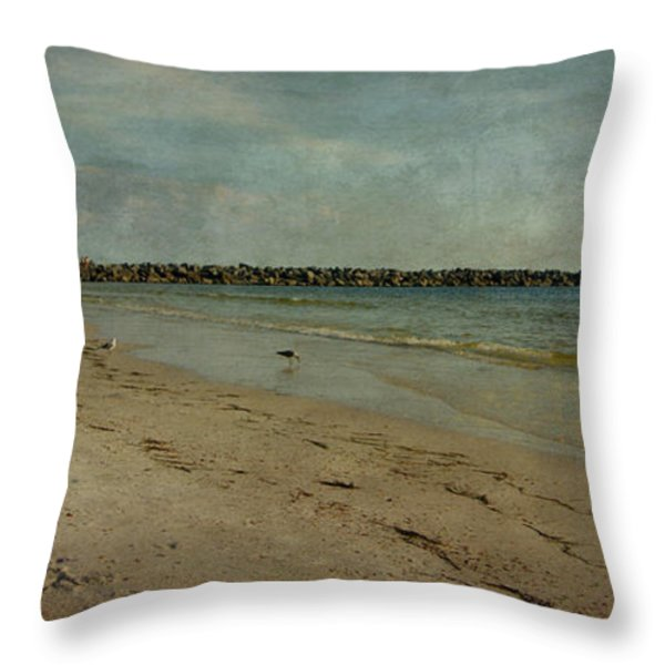 The Jetty Throw Pillow by Sandy Keeton