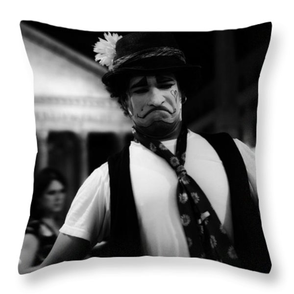 The Joker Throw Pillow by Erik Brede