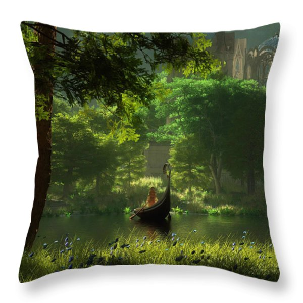 The Journey Throw Pillow by Melissa Krauss