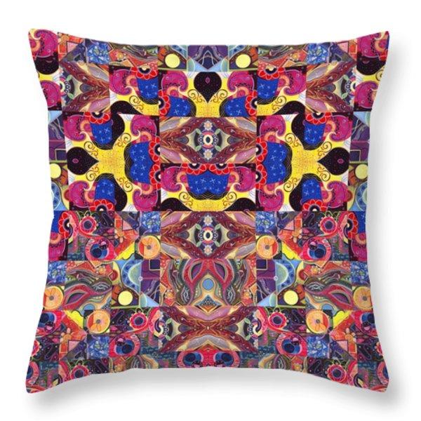 The Joy Of Design Mandala Series Puzzle 3 Arrangement 6 Throw Pillow by Helena Tiainen