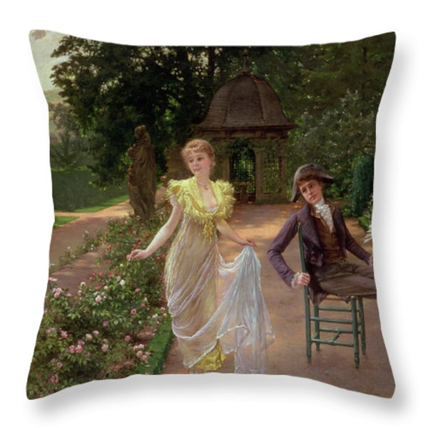 The Judgement Of Paris Throw Pillow by Hermann Koch