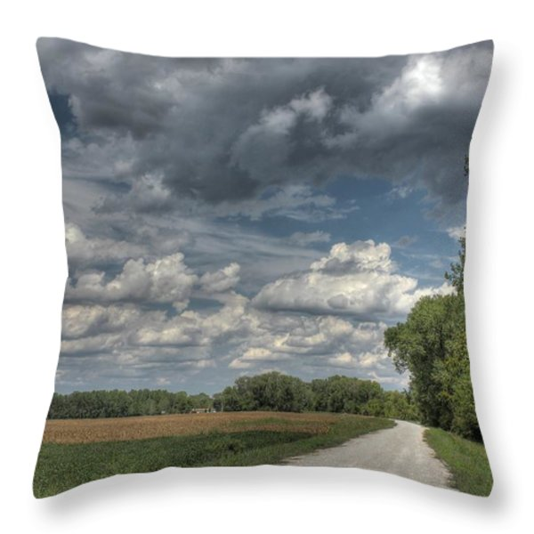 The Katy Trail Throw Pillow by Jane Linders