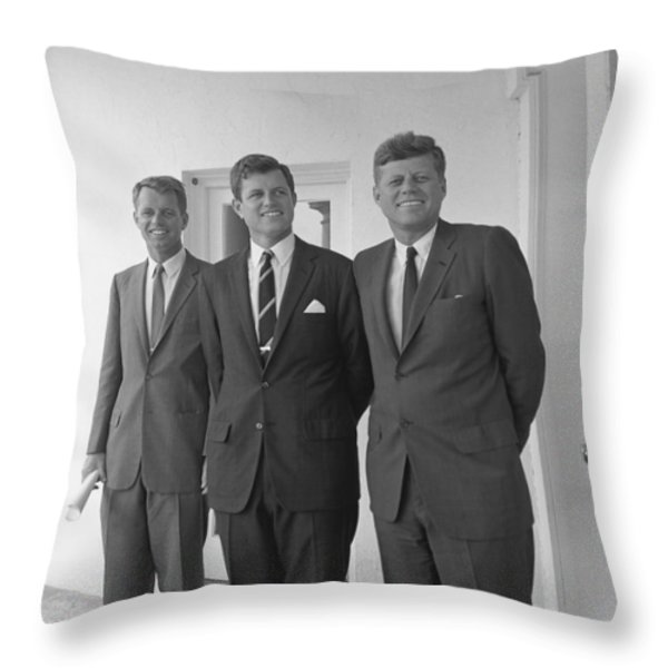 The Kennedy Brothers Throw Pillow by War Is Hell Store