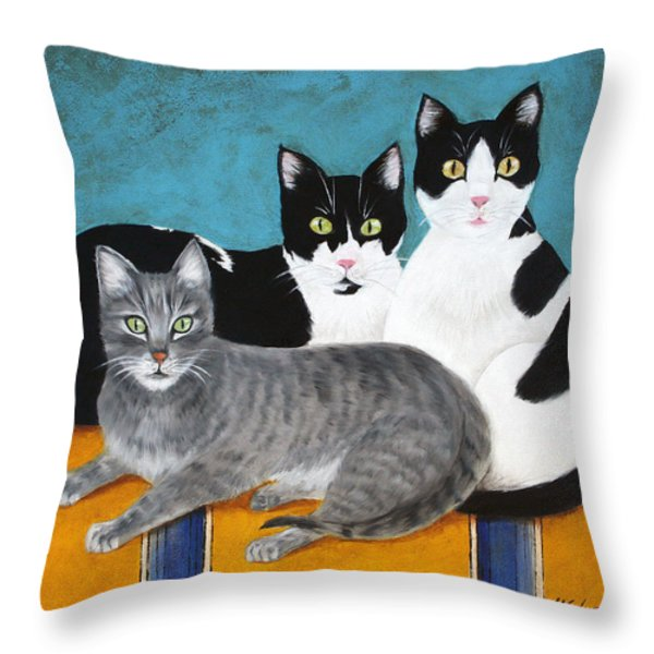 The Kids Throw Pillow by Marna Edwards Flavell
