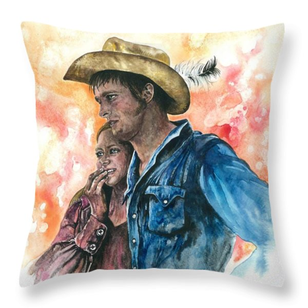 THE KING AND HIS QUEEN Throw Pillow by Kim Whitton