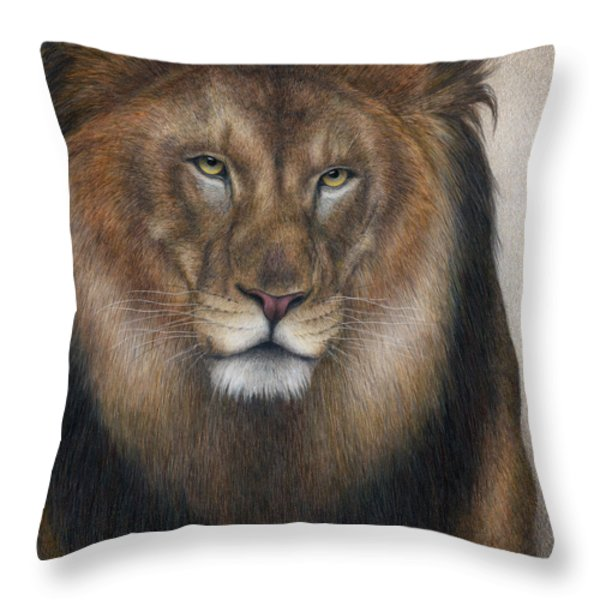 The King Grows Weary  Throw Pillow by Pat Erickson