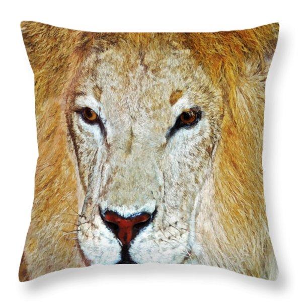 The King Throw Pillow by Susan Leggett