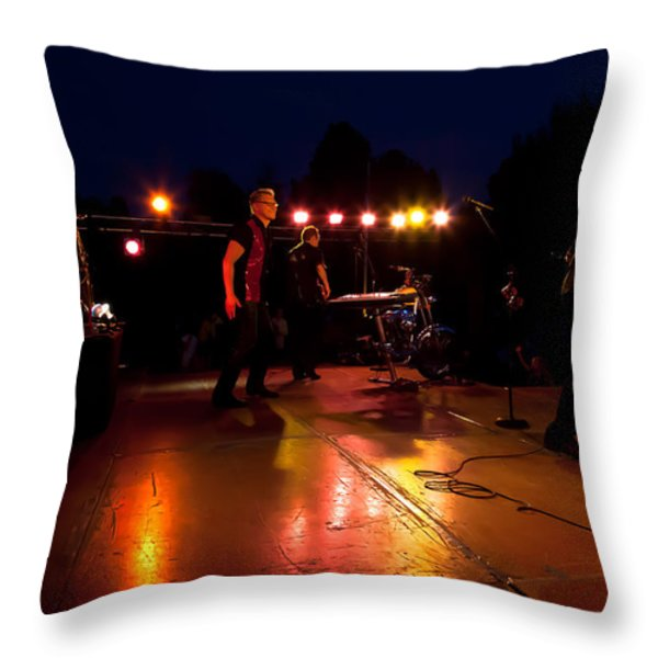 The Kingpins Rock the Night Away Throw Pillow by David Patterson