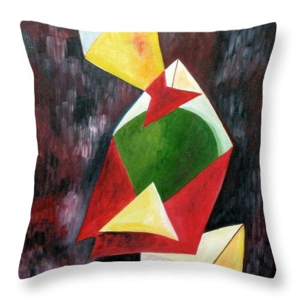 The Kites Throw Pillow by Dipali Deshpande
