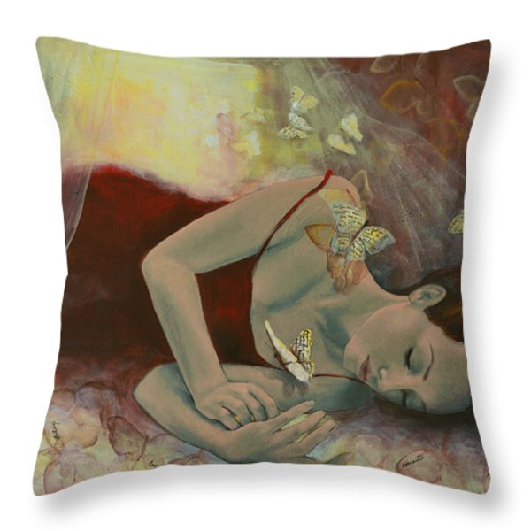 The last dream before dawn Throw Pillow by Dorina  Costras