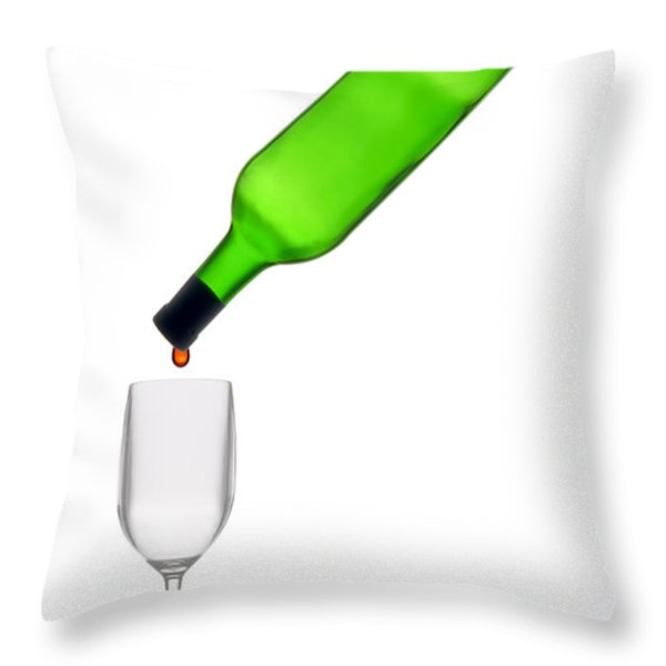 The Last Drop Throw Pillow by Olivier Le Queinec