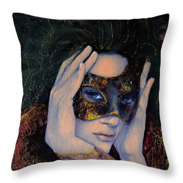 The Last Secret Throw Pillow by Dorina  Costras