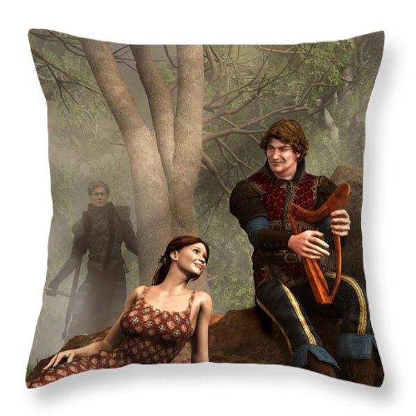 The Last Song Of Tristan Throw Pillow by Daniel Eskridge