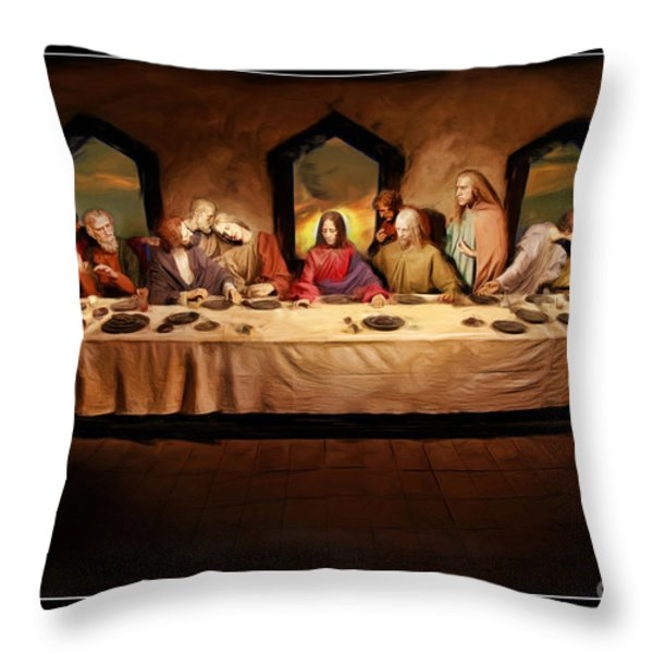 The Last Supper Throw Pillow by Blake Richards