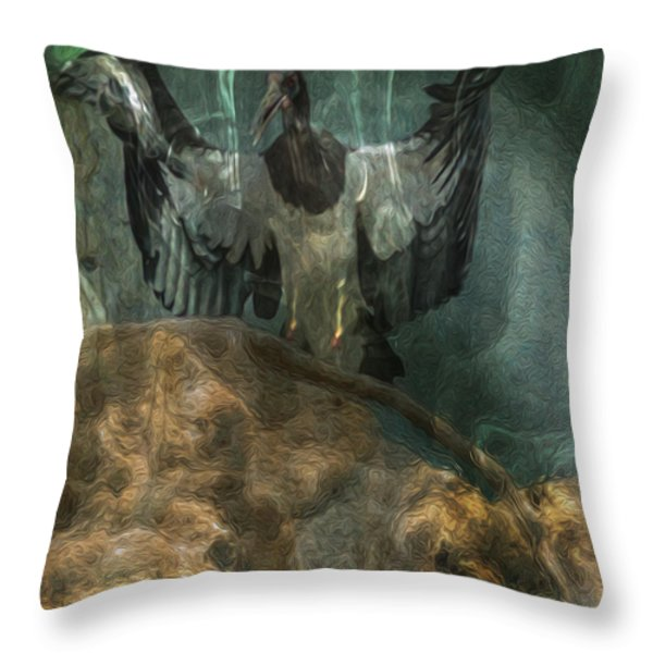 The Lecturer Throw Pillow by Jack Zulli