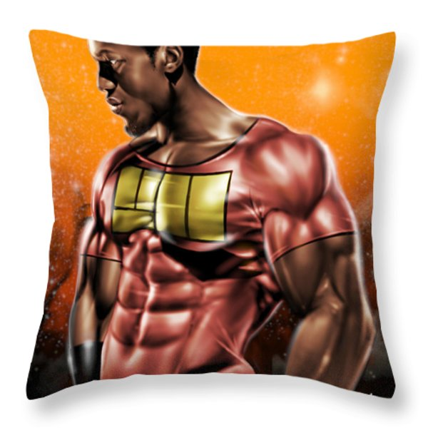 The Legend of Will Power Throw Pillow by Pete Tapang
