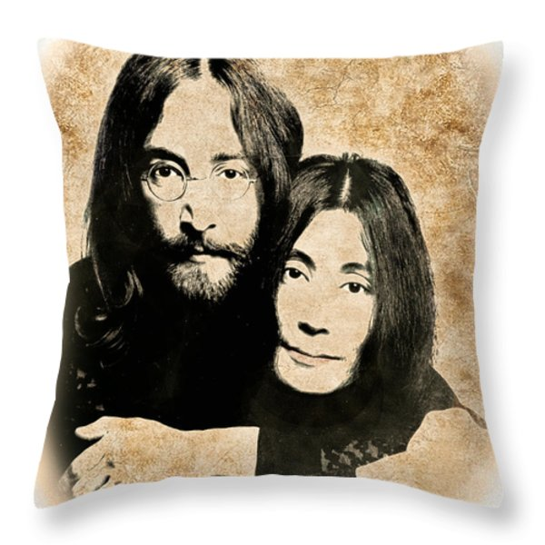 The Lennons Throw Pillow by Gary Keesler