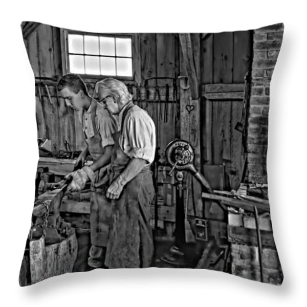 The Lesson Monochrome Throw Pillow by Steve Harrington