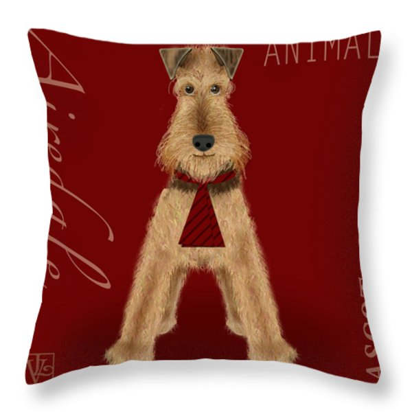 The Letter A Throw Pillow by Valerie   Drake Lesiak