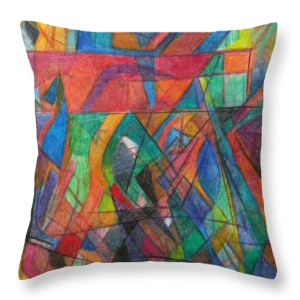 The Letter Dalet 2 Throw Pillow by David Baruch Wolk