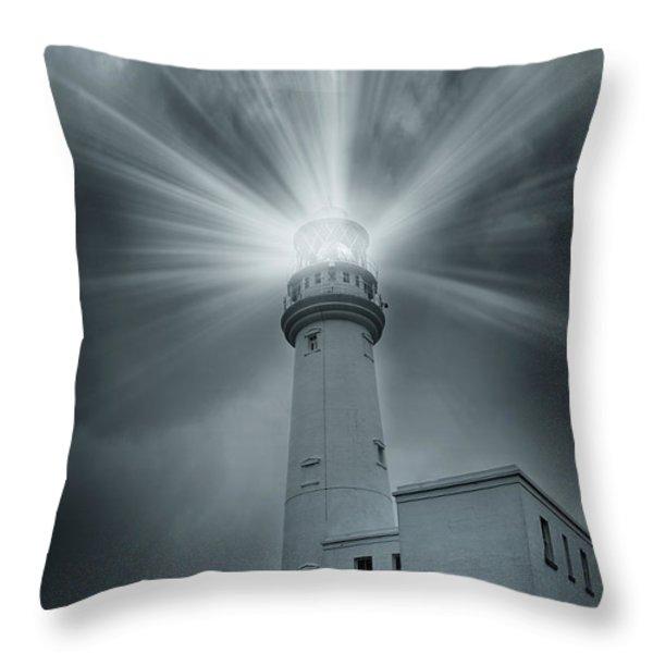 The Light House Throw Pillow by Svetlana Sewell
