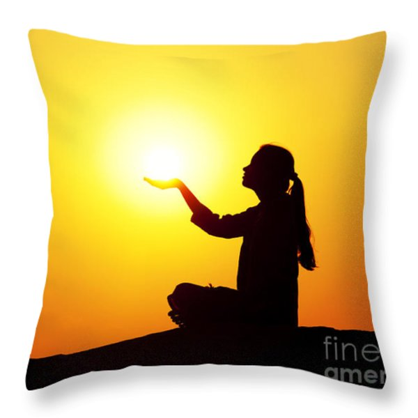 The Light Throw Pillow by Tim Gainey