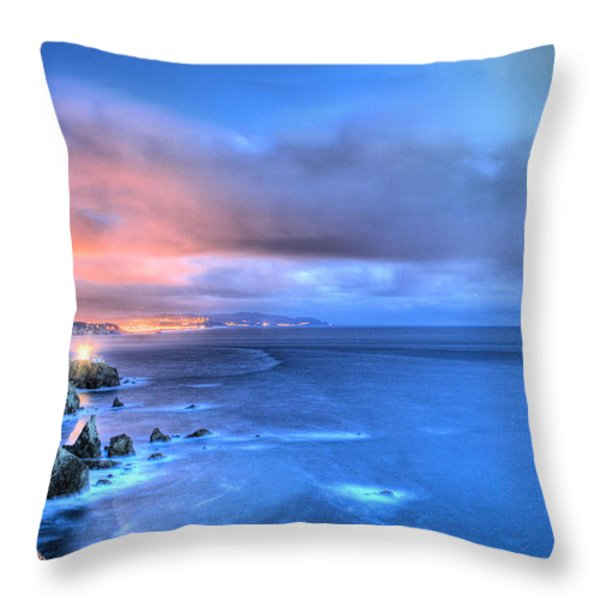 The Lighthouse Throw Pillow by JC Findley