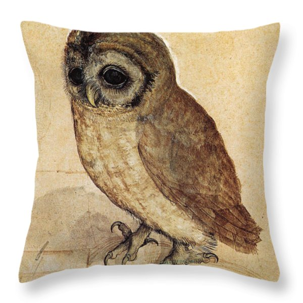 The Little Owl 1508 Throw Pillow by Albrecht Durer
