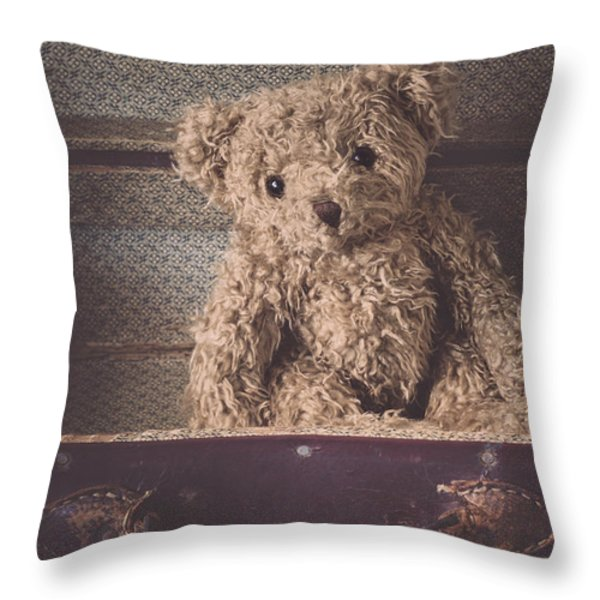 The Little Vagabond Throw Pillow by Amy Weiss