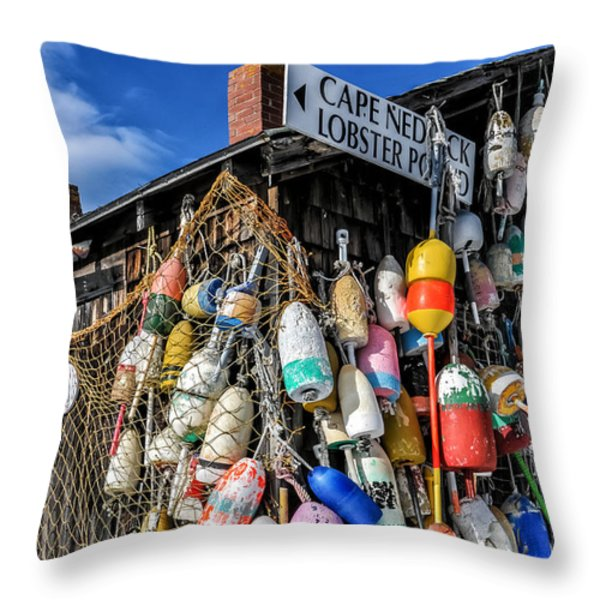 The Lobster Pound - Cape Neddick Maine Throw Pillow by Thomas Schoeller
