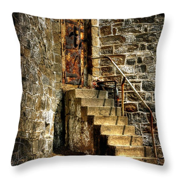 The Locked Door Throw Pillow by Lois Bryan