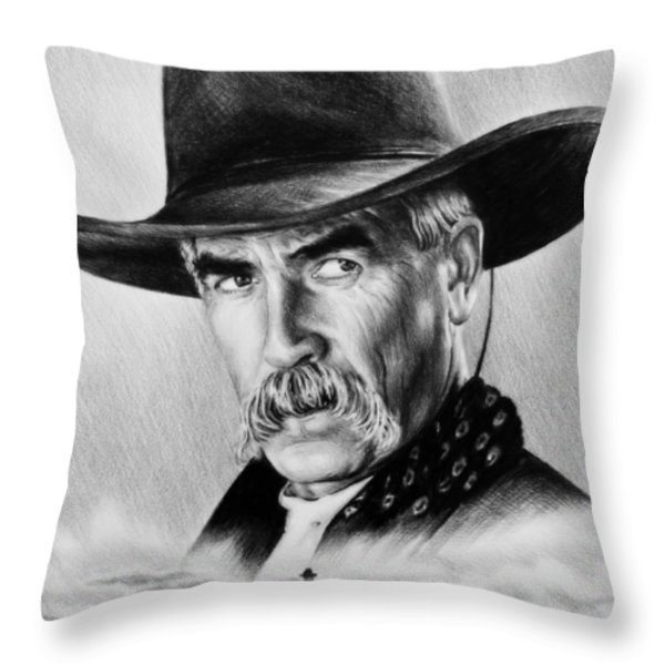 The Lone Rider  wash effect Throw Pillow by Andrew Read