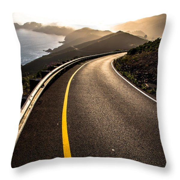 The Long and Winding Road Throw Pillow by John Daly